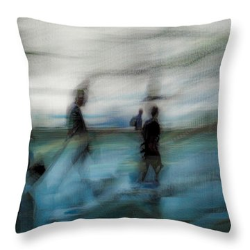 Throw Pillow featuring the photograph Travel Blues by Alex Lapidus