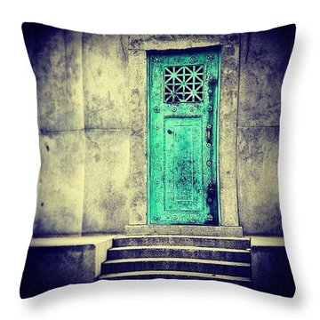 Mysterious Doors Throw Pillow