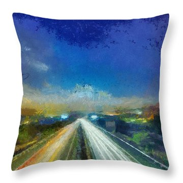 Throw Pillow featuring the painting Travel by Georgi Dimitrov