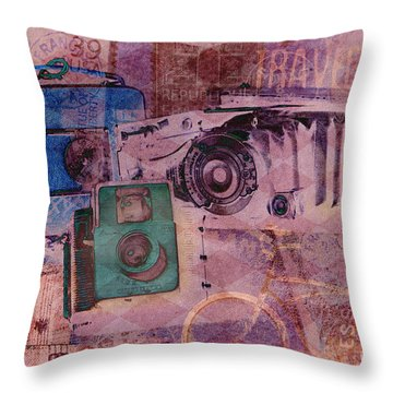 Travel Log Throw Pillow