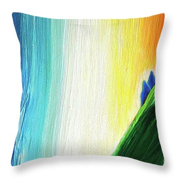 Throw Pillow featuring the painting Travelers Rainbow Waterfall Detail by First Star Art