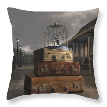 Traveling Throw Pillow by Cynthia Decker