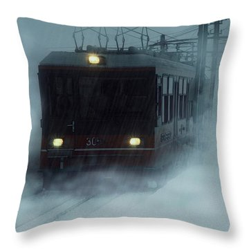 Traveling In The Snow... Throw Pillow