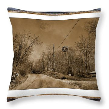 Traveling Through Oz Throw Pillow by Betsy Knapp
