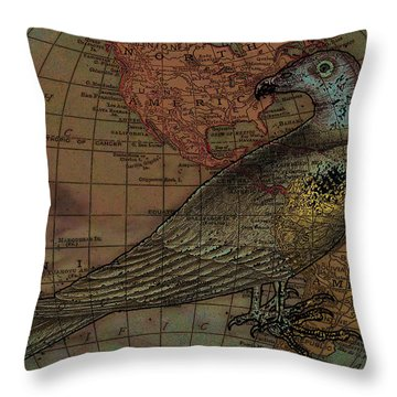 Travelling With The Buzzard Throw Pillow by Sarah Vernon