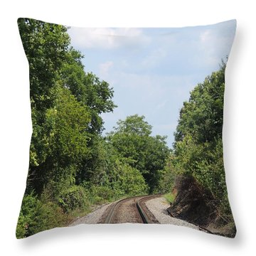 Traxs To Anywhere Throw Pillow by Aaron Martens