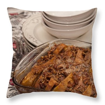 Tray Of Baked French Toast Throw Pillow