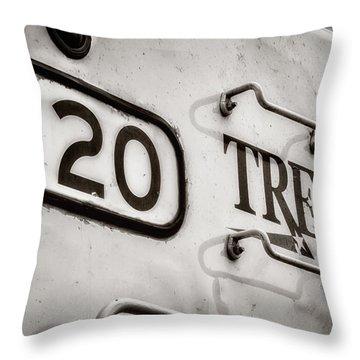 Tre 120 Throw Pillow by Joan Carroll
