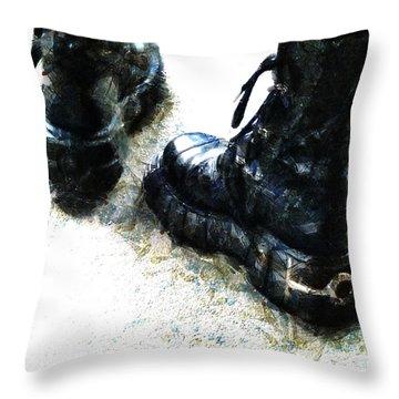 Tread Carefully  Throw Pillow by Steve Taylor
