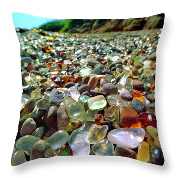 Treasure Beach Throw Pillow by Daniel Furon