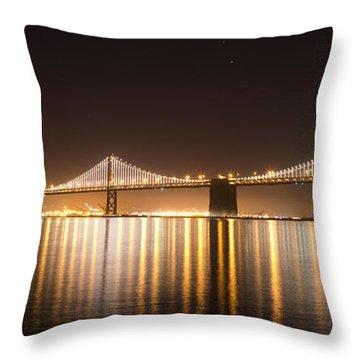 Treasure Island Bay Lights Throw Pillow