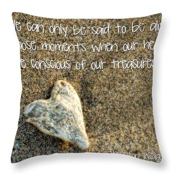 Treasured Heart Throw Pillow