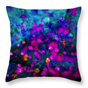 Throw Pillow featuring the painting Treasures by  Heidi Scott