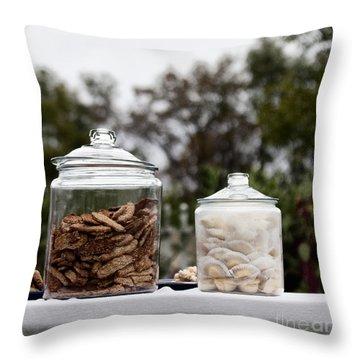 Treats Throw Pillow by Margie Hurwich