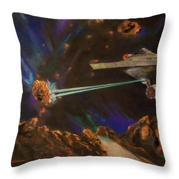 Throw Pillow featuring the mixed media Trek Adventure by Peter Suhocke