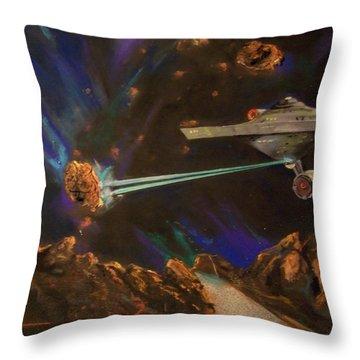 Trek Adventure Throw Pillow by Peter Suhocke