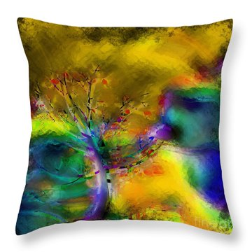 Tree Abstract - Bold Is Beautiful Throw Pillow by Liane Wright