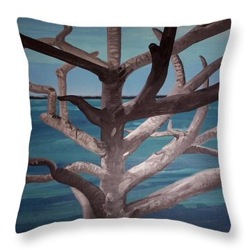 Tree And Beach Throw Pillow