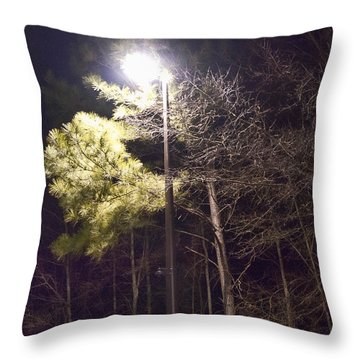 Tree And Streetlight  Throw Pillow by J Riley Johnson