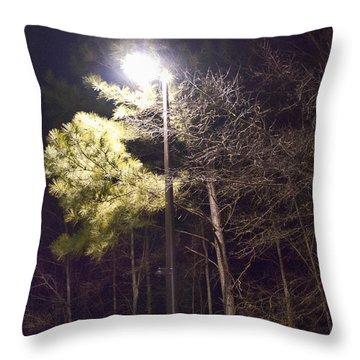 Tree And Streetlight  Throw Pillow