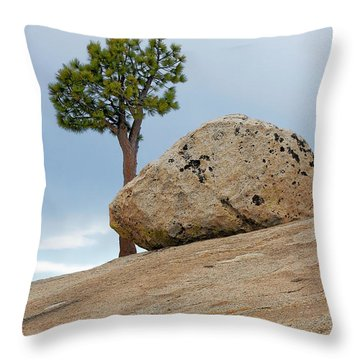 Tree At Olmsted Point Yosemite National Park California Throw Pillow by Christine Till