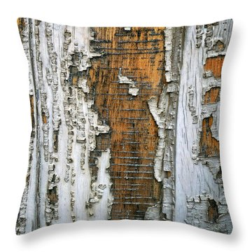Tree Bark 2 Throw Pillow by Dee Flouton