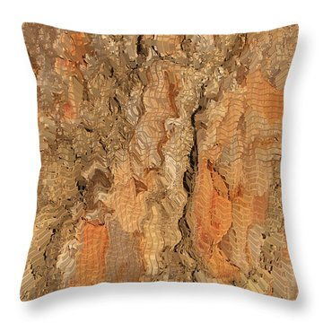 Throw Pillow featuring the photograph Tree Bark Abstract by Cindy Lee Longhini