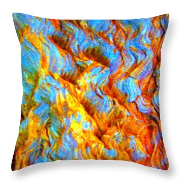 Throw Pillow featuring the photograph Tree Bark by Julia Ivanovna Willhite