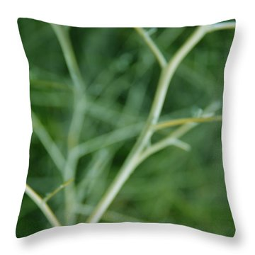 Tree Branches Abstract Green Throw Pillow by Jennie Marie Schell