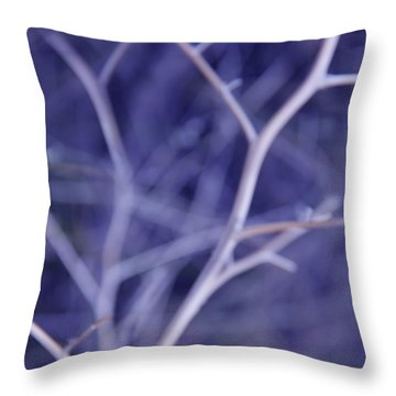 Tree Branches Abstract Lavender Throw Pillow by Jennie Marie Schell