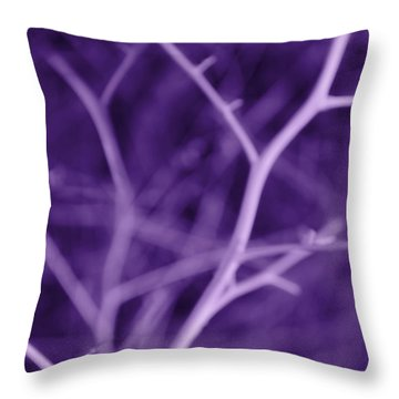 Tree Branches Abstract Purple Throw Pillow by Jennie Marie Schell