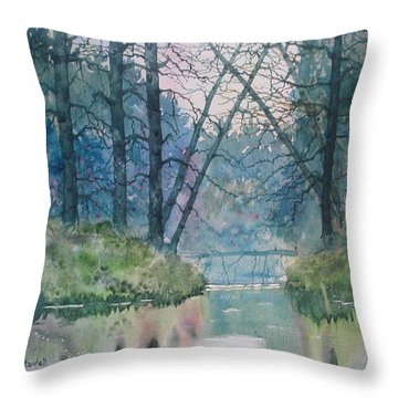 Tree Bridge Throw Pillow