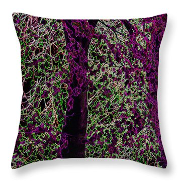 Tree Throw Pillow by Carol Lynch