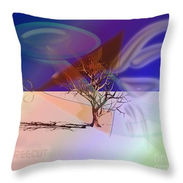 Tree Cut Throw Pillow
