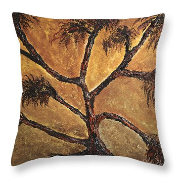 Tree Throw Pillow by Dick Bourgault