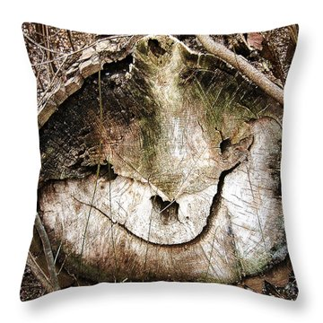 Throw Pillow featuring the photograph Tree Face by Menega Sabidussi