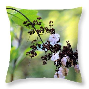 Tree Filigree Throw Pillow by Deborah  Crew-Johnson