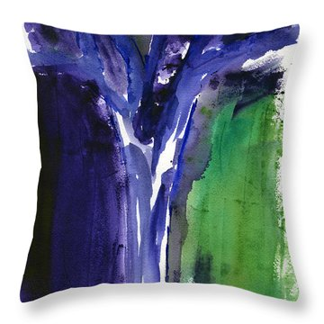 Throw Pillow featuring the painting Tree Ghost by Frank Bright