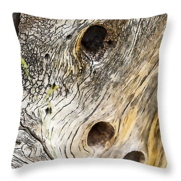 Tree Holes Throw Pillow