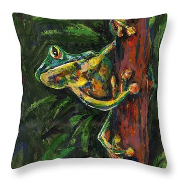 Tree Hugger Throw Pillow by Lovejoy Creations