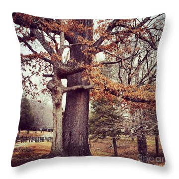 Tree Hugging Throw Pillow