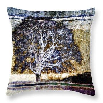 Tree In Metal Throw Pillow
