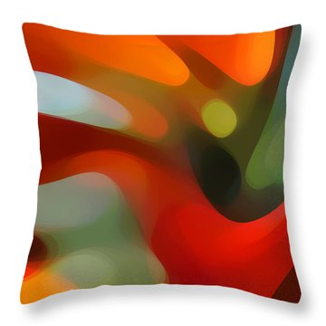Tree Light 4 Throw Pillow by Amy Vangsgard