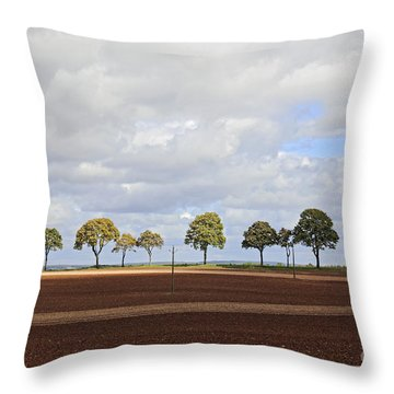 Tree Line France Throw Pillow