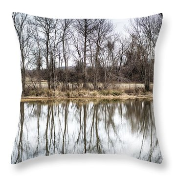 Tree Line In Winter  Throw Pillow