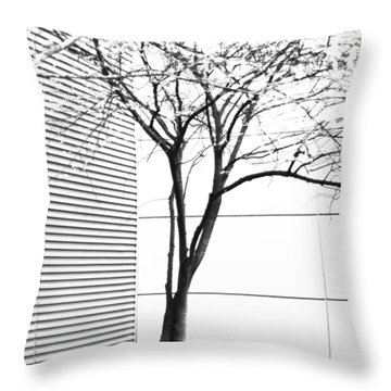 Tree Lines Throw Pillow