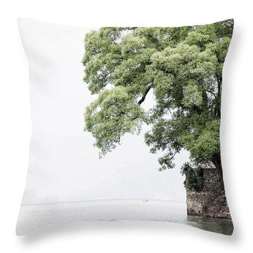 Tree Next To A Lake Throw Pillow
