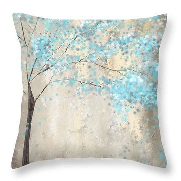 Tree Of Blues Throw Pillow