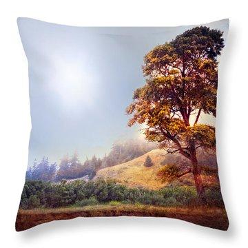 Tree Of Dreams Throw Pillow by Debra and Dave Vanderlaan