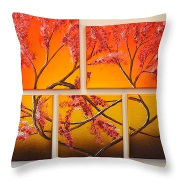 Tree Of Infinite Love Throw Pillow